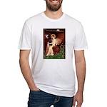 Angel (#1) & Schipperke Fitted T-Shirt