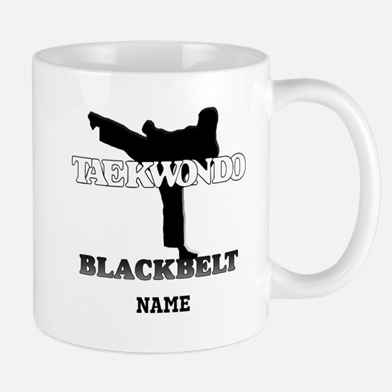 Personalized TaeKwonDo Black Belt Large Mugs