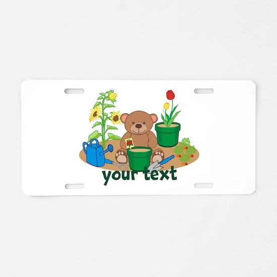Personalized Garden Teddy Bear Aluminum License Pl