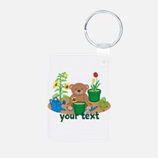 Personalized Garden Teddy Bear Keychains