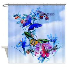 Take Flight! Butterfly Orchid Art Shower Curtain