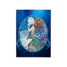 Clive Sensual Pearl Mermaid 5'X7'area Rug