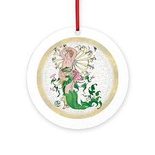 Flora's Feast Honeysuckle Ornament (Round)