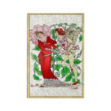 Flora's Feast Rose Rectangle Magnet