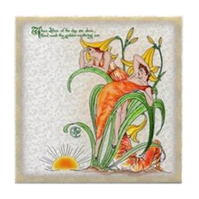 1889 Day Lilies Tile Coaster