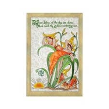 1889 Day Lilies Rectangle Magnet