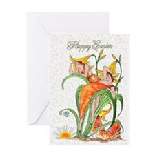 1889 Day Lilies Greeting Card