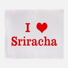 sriracha love Throw Blanket
