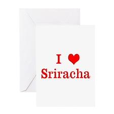 sriracha love Greeting Cards