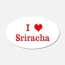 sriracha love Wall Decal