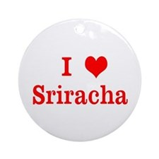 sriracha love Ornament (Round)