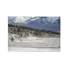 Snow mountain Rectangle Magnet
