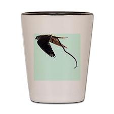 Bird w/snake Shot Glass