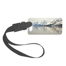 Mountain reflection in the water Luggage Tag