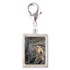 Bushy tail fox Silver Portrait Charm