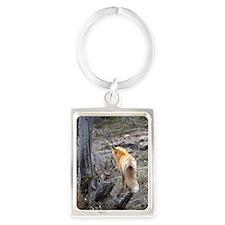 Bushy tail fox Portrait Keychain