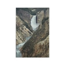 Waterfall & canyon Rectangle Magnet