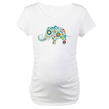 Colorful Retro Floral Elephant Shirt