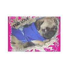 Love A Pug Rectangle Magnet