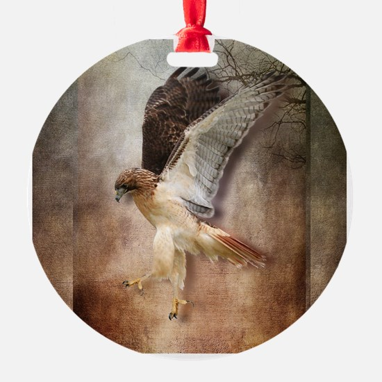 Evening Hawk Ornament