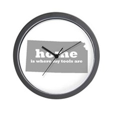 Ks Home Is Where Tools Wall Clock
