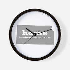 Ks Home Is Where Tools Wall Clock