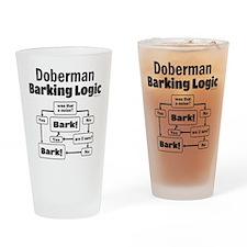 Doberman logic Drinking Glass
