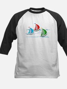 Yacht Race of Three Boats Baseball Jersey