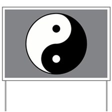 Yin Yang Yard Sign