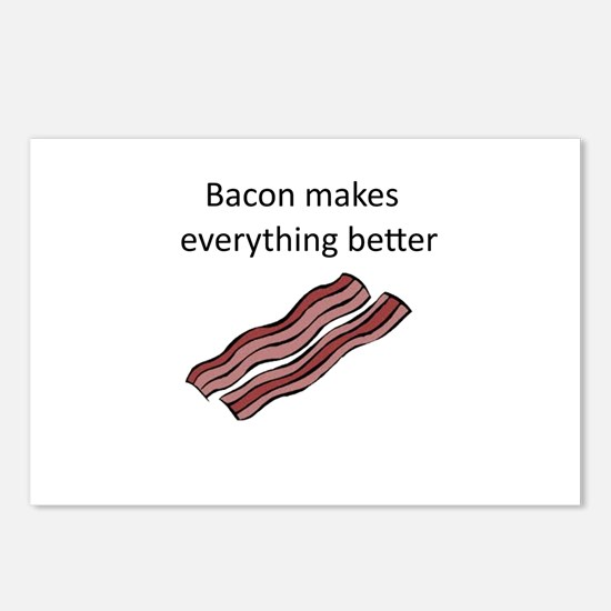 bacon makes everything be Postcards (Package of 8)