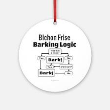 Bichon Frise Logic Ornament (Round)
