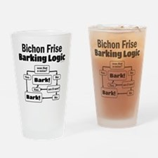 Bichon Frise Logic Drinking Glass