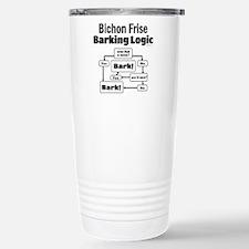 Bichon Frise Logic Stainless Steel Travel Mug