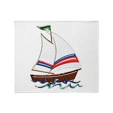 Cute Sail Throw Blanket