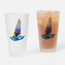 Cute Windsurf Drinking Glass