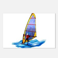 Cute Windsurfing Postcards (Package of 8)