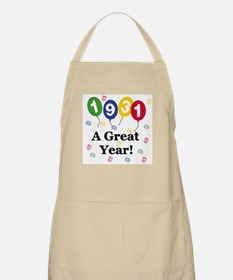 1931 A Great Year BBQ Apron