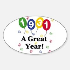 1931 A Great Year Oval Decal