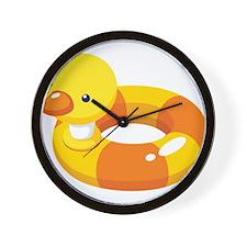 Duck Floatie Wall Clock