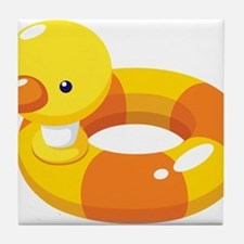 Duck Floatie Tile Coaster