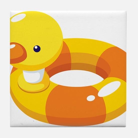 Duck Floatie Tile Coaster