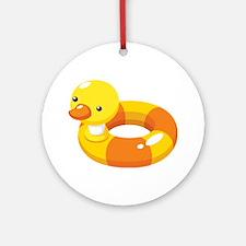 Duck Floatie Ornament (Round)