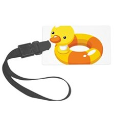 Duck Floatie Luggage Tag