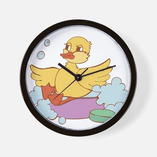 Duck in Bath Wall Clock