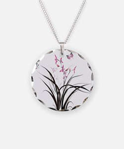 Chinese Orchids Necklace