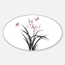 Chinese Orchids Decal