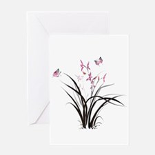 Chinese Orchids Greeting Cards