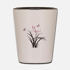 Chinese Orchids Shot Glass
