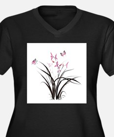 Chinese Orchids Plus Size T-Shirt