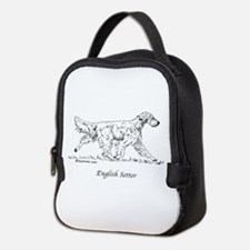 English Setter Neoprene Lunch Bag